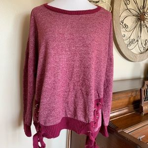 Maurice's Size 2X Sweatshirt with Lace Up Sides